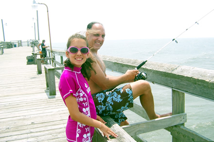 Fishing on Sunset Beach Pier - North Carolina